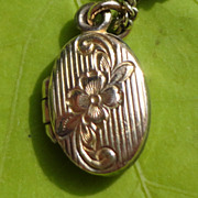 Vintage Gold Filled Oval Baby Locket
