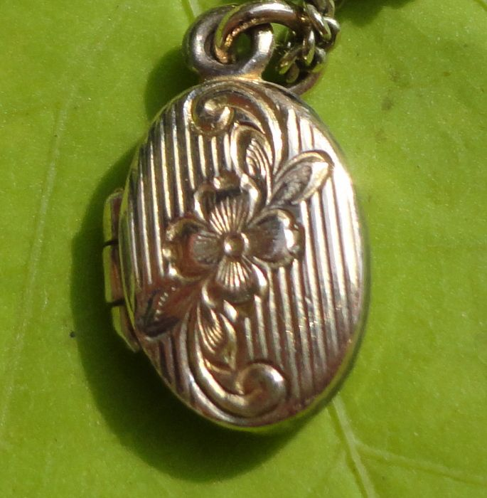 Vintage Gold Filled Oval Baby Locket