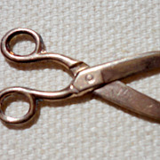 Victorian Gold Filled Scissors Charm Fob