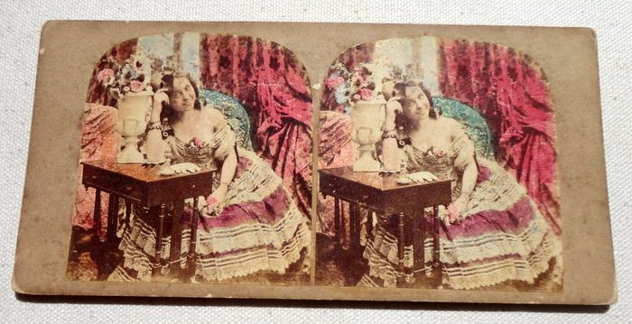 1865 Stereograph Stereoview Do You Know Me Now