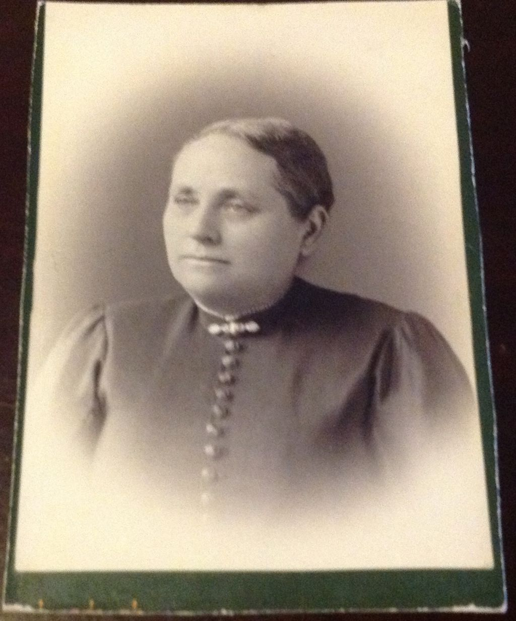 Antique Cabinet Card Woman