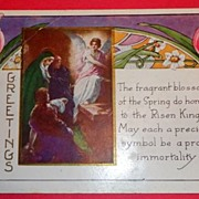 Vintage Easter Greetings Witney Made Postcard