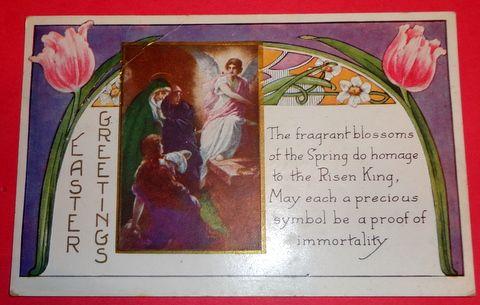 Vintage Easter Greetings Witney Made Postcard