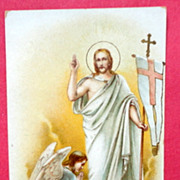 Vintage Prayer Card The Risen Christ