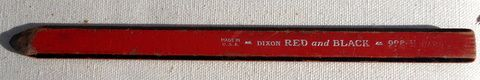 Vintage Dixon Red & Black #998-H Pencil