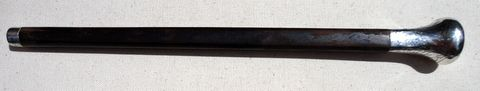 Vintage Sterling Silver Tip Wooden Umbrella Handle