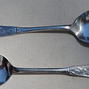 Pair Rogers & Bro Silver Plate Spoons