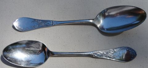 Pair Rogers & Bro Silver Plate Spoons
