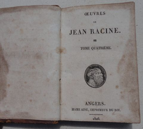 1826 Work Of Jean Racine Volume 4