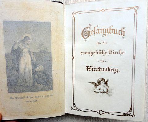 Vintage German Leather Prayer Book