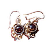 Gorgeous Victorian Garnet Dangle Earrings