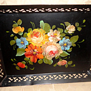 Vintage Hand Painted Tole Tray