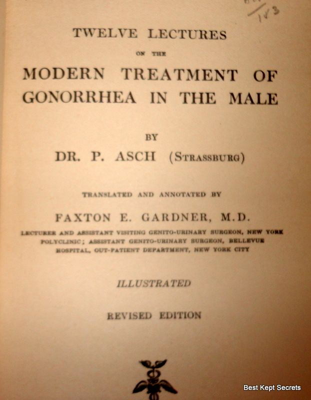 1917 Twelve Lectures On The Modern Treatment Of Gonorrhea