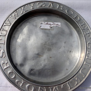 Vintage Aluminum ABC Child's Plate