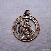 Vintage Large St. Christopher Medal