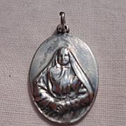 Vintage Sterling Silver St. Francis Xavier Cabrini Catholic Medal