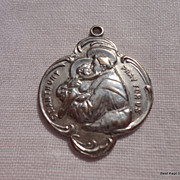 Large Vintage St. Anthony Catholic Medal
