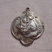 Large Vintage St. Anthony Catholic Medal