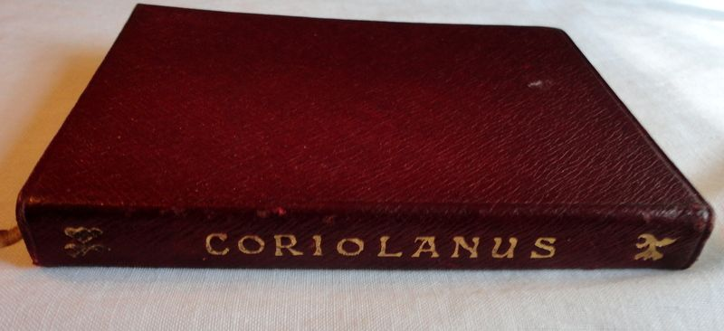 1909 The Temple Shakespeare's Tragedy Of Coriolanus