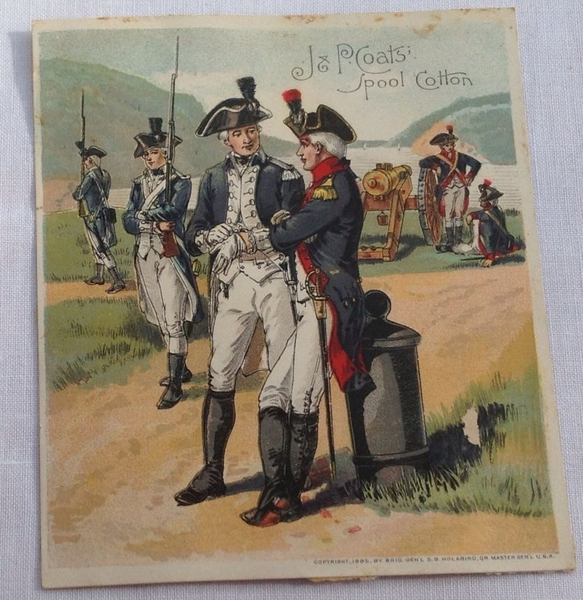 Victorian J & P Coats' Spool Cotton Trade Card