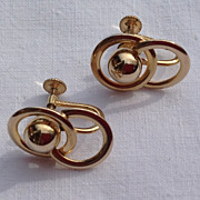 Vintage 12K Gold Filled Screw Back Earrings