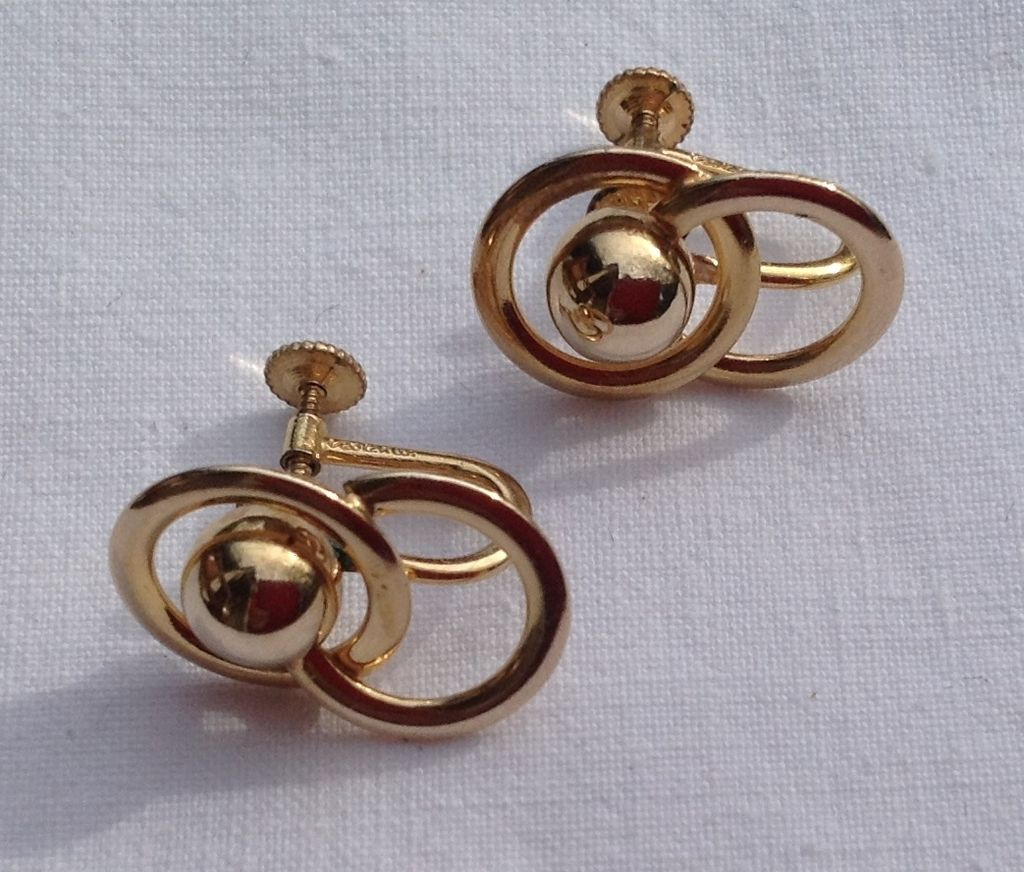 Vintage 12k Gold Filled Screw Back Earrings