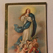 Vintage Chromolithograph Religious Card