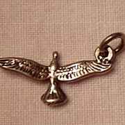 Vintage Sterling Silver Flying Eagle Charm