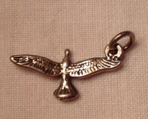 Vintage Sterling Silver Flying Eagle Charm