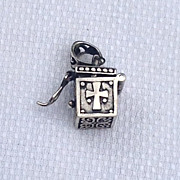 Vintage Sterling Silver Prayer Box Pendant Charm