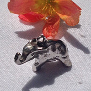 Vintage Sterling Silver Elephant Charm