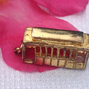 Vintage Gold Filled Trolley Car Charm