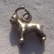 Vintage Sterling Silver Bull Dog Charm