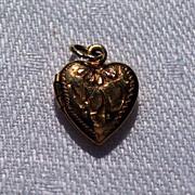 Vintage 12K Gold Filled  Double Photo Heart Locket