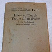 Little Blue Book No. 1206 How To Teach Yourself To Swim Harry Hazlehurst
