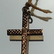 Vintage Gold Filled Cross Pendant