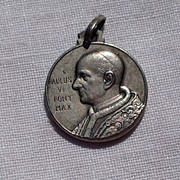 Vintage 800 Silver Paulus VI Pont Max Medal