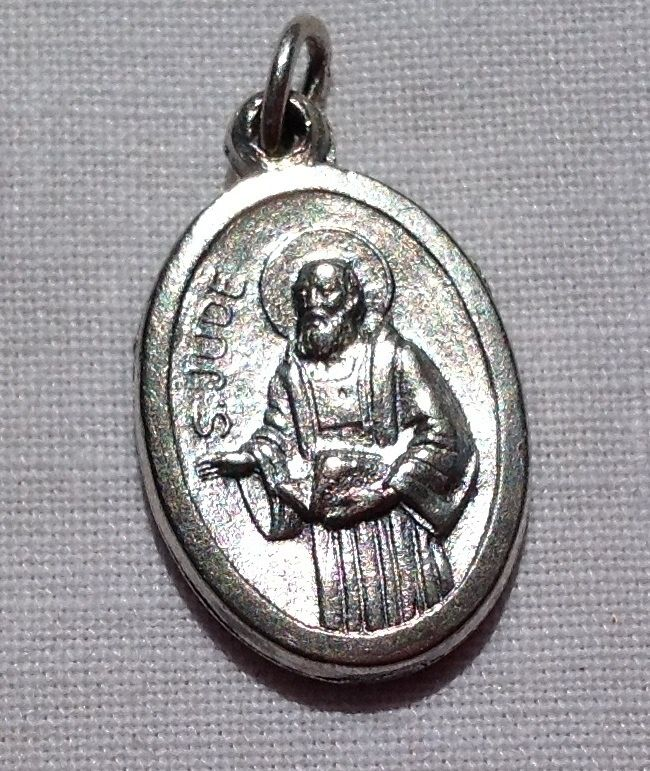 Vintage St. Jude & St. Raphael Miraculous Healers Of The Sick Medal