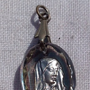 Vintage Lucite Blessed Virgin Mary Pendant