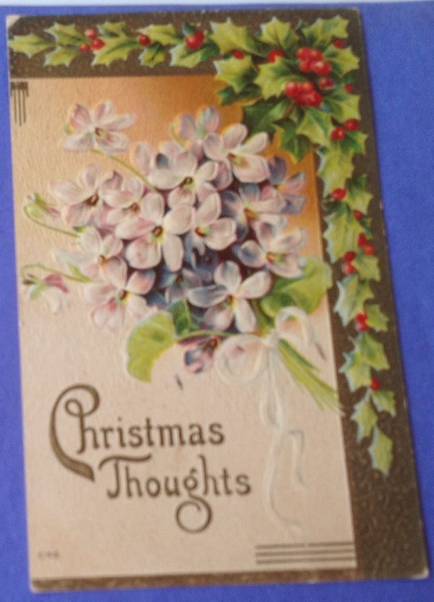 1914 Embossed Christmas Post Card