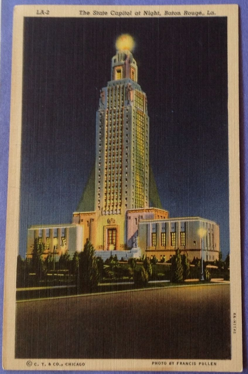 Vintage Louisiana State Capitol Post Card