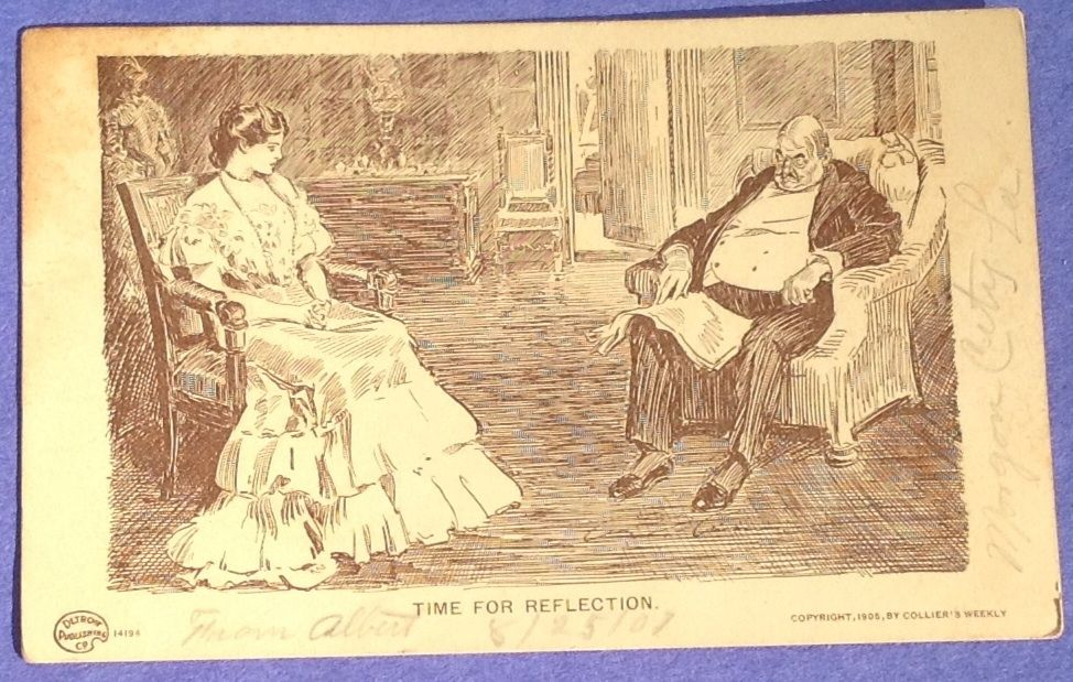 Antique 1907 Time For Reflection Collier's Weekly Post Card