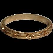 Vintage 14K Yellow Gold Wedding Eternity Ring Band