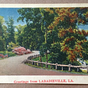 1952 Vintage Labadieville, Louisiana Post Card
