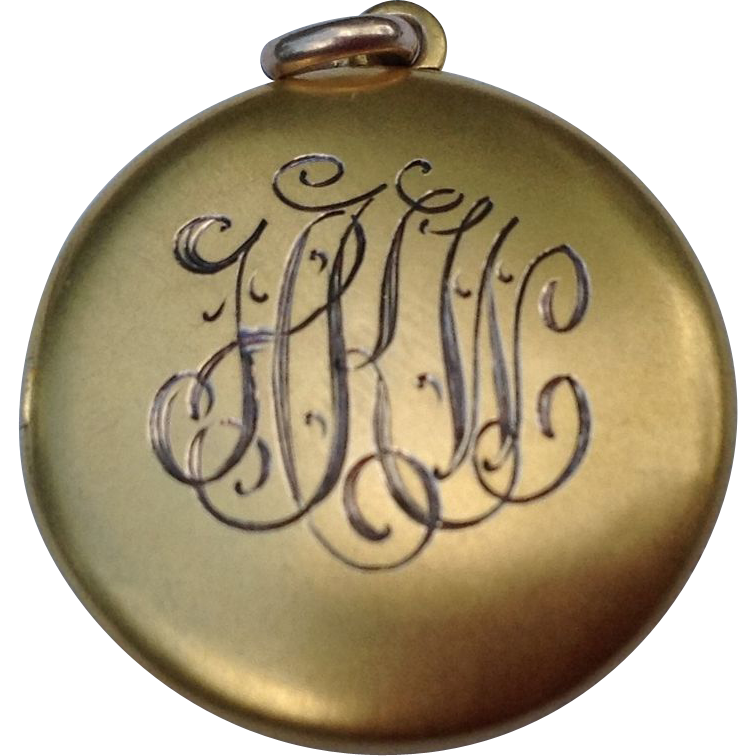 Victorian Gold Filled Double Photo Locket Charm