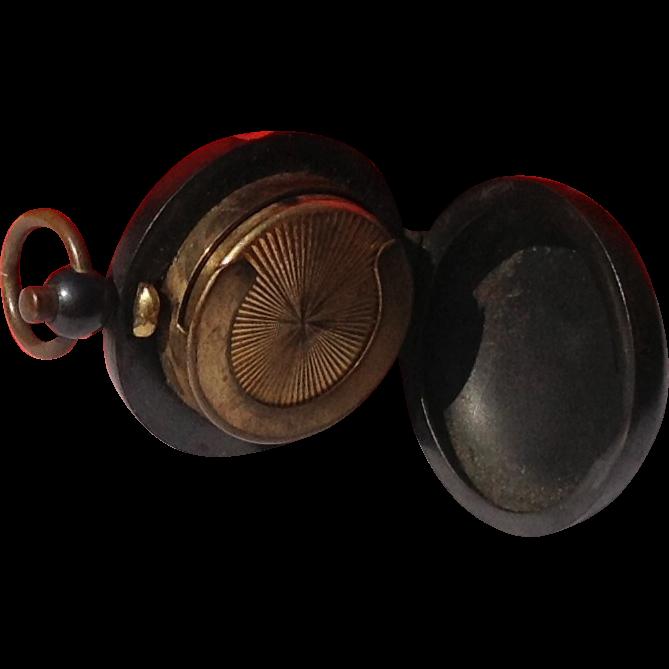 Rare Antique Victorian Gunmetal Coin Holder