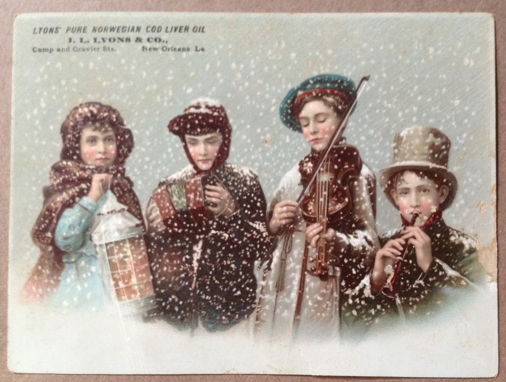 Vintage Lyons' Pure Norwegian Cod Liver Oil Trade Card
