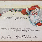 Art Deco A Merry Christmas Post Card