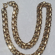 Vintage 12 K Gold Filled Charm Bracelet Link Necklace