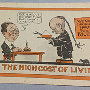 Vintage No. 2177 Hi Cost Of Living Comic Post Card